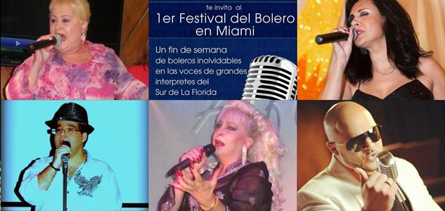 Candidatos a competir en el 1er Festival del Bolero de Miami 2014